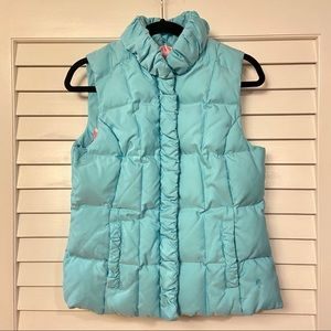 LILLY PULITZER TURQUOISE PUFFER VEST